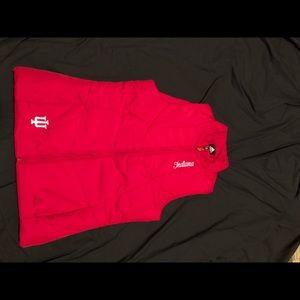 Adidas Indiana university puffer like vest size M